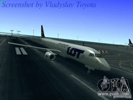 Embraer ERJ 190 LOT Polish Airlines for GTA San Andreas left view