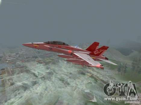 FA-18D Hornet for GTA San Andreas