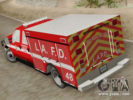 Ford F-350 Super Duty LAFD for GTA San Andreas inner view