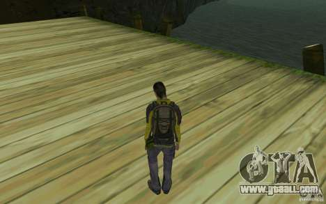 Backpacker HD Skin for GTA San Andreas second screenshot