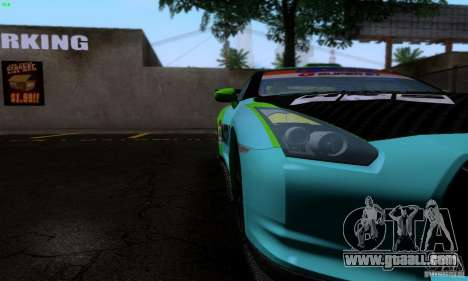 Nissan GTR R35 Tuneable for GTA San Andreas interior