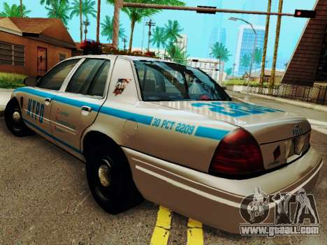 Ford Crown Victoria 2003 NYPD White for GTA San Andreas back left view