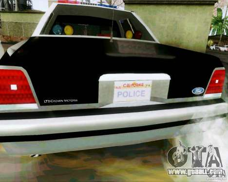 Ford Crown Victoria LTD 1991 SFPD for GTA San Andreas right view
