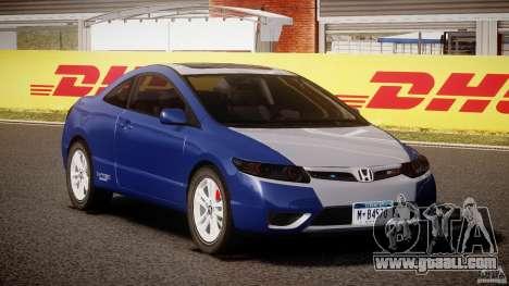 Honda Civic Si Coupe 2006 v1.0 for GTA 4 back view