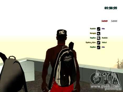 Knapsack-parachute for GTA: SA for GTA San Andreas second screenshot