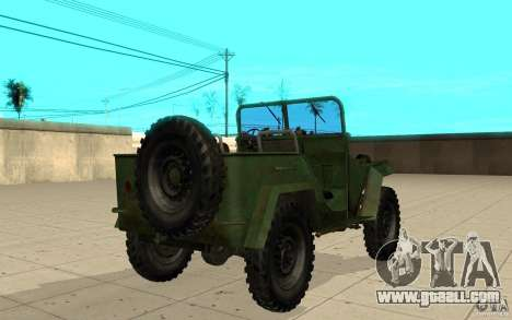 Gaz-67 for GTA San Andreas back left view