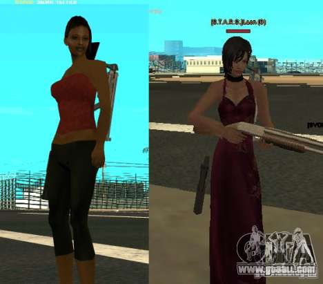 Pak characters from Resident Evil for GTA San Andreas second screenshot