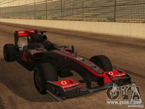 McLaren MP4-25 F1 for GTA San Andreas side view