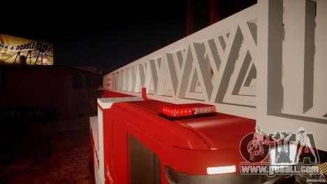 Scania Fire Ladder v1.1 Emerglights red [ELS] for GTA 4 interior