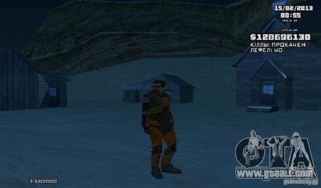 Gordon Freeman for GTA San Andreas third screenshot