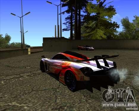 Pagani Huayra SHE for GTA San Andreas left view