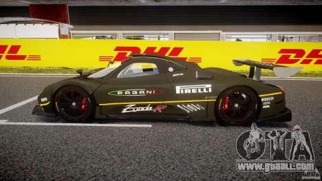 Pagani Zonda R 2009 for GTA 4 left view