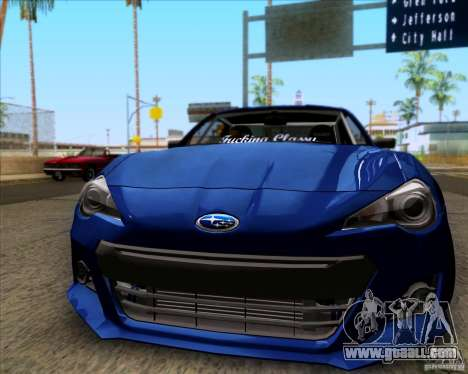 Subaru BRZ Stance for GTA San Andreas left view