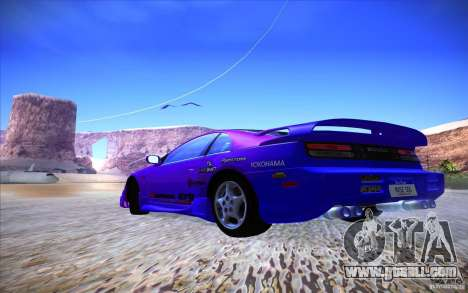 Nissan 300ZX Twin Turbo for GTA San Andreas bottom view