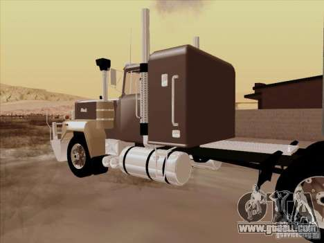 Mack RoadTrain for GTA San Andreas back view