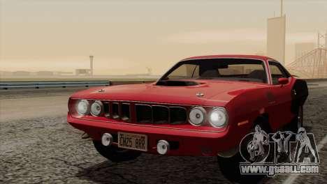 Plymouth Hemi Cuda 426 1971 for GTA San Andreas engine