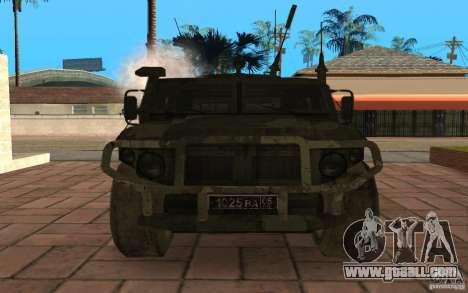 Gaz 2975 Tiger for GTA San Andreas inner view