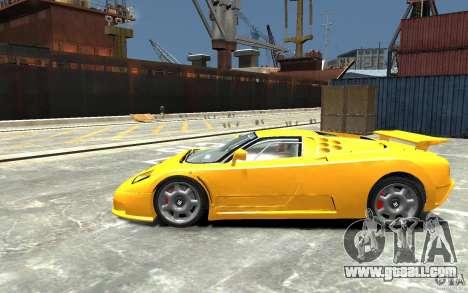 Bugatti EB110 Super Sport for GTA 4 left view