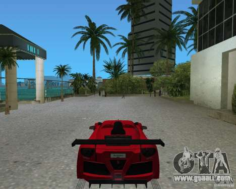 Gumpert Apollo Sport for GTA Vice City back left view