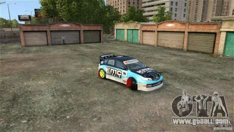 Subaru Impreza WRX STI Rallycross KMC Wheels for GTA 4 upper view