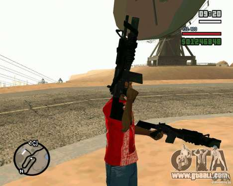 Black Ops Commando for GTA San Andreas second screenshot