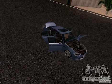BMW M3 E90 Sedan 2009 for GTA San Andreas upper view
