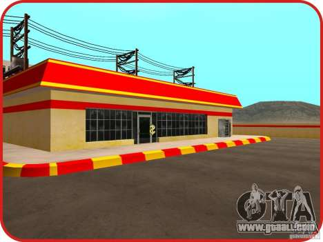 New Shell gas station for GTA San Andreas fifth screenshot