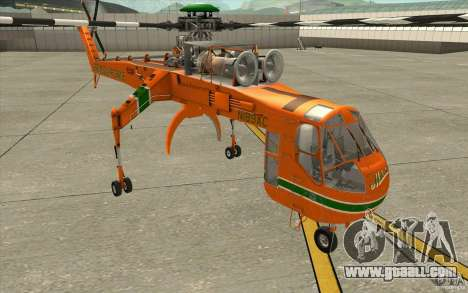 Sikorsky Air-Crane S-64E for GTA San Andreas
