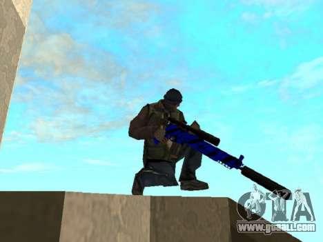 Blue and black gun pack for GTA San Andreas fifth screenshot