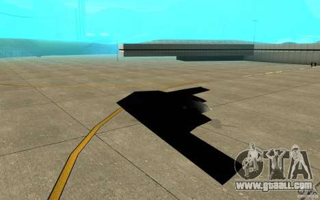 B2-Stealth for GTA San Andreas back left view
