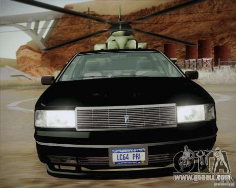 GTA IV Primo for GTA San Andreas back left view