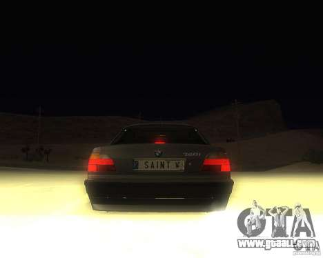 BMW 740i Update for GTA San Andreas back left view