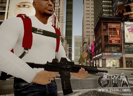 The HK416 (automatic) for GTA 4 second screenshot