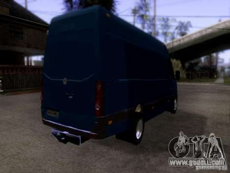 Volkswagen Crafter XL for GTA San Andreas back left view
