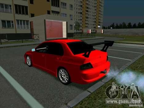 Mitsubishi Lancer Drift for GTA San Andreas right view