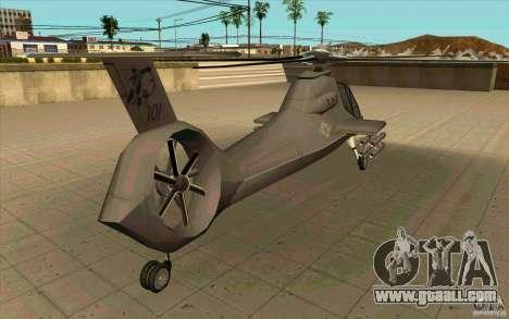 Sikorsky RAH-66 Comanche default grey for GTA San Andreas back view