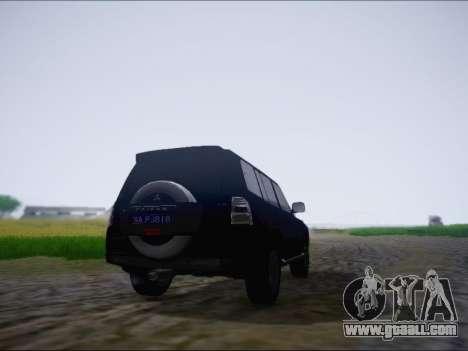 Mitsubishi Pajero 2012 for GTA San Andreas right view
