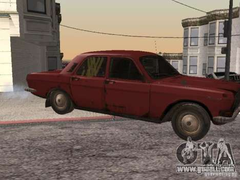 Volga Gaz M24-Rusty Death for GTA San Andreas left view