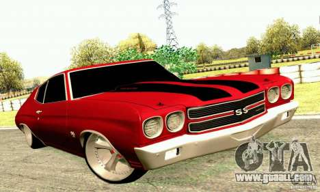 Chevrolet Chevelle 1970 for GTA San Andreas inner view
