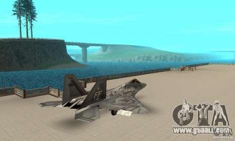 F-22 Starscream for GTA San Andreas back left view
