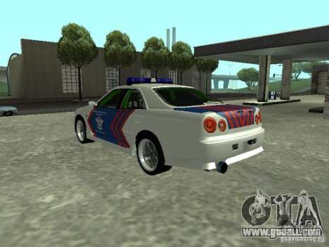 Nissan Skyline Indonesia Police for GTA San Andreas left view