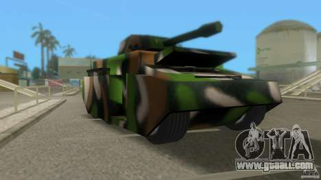 Bundeswehr-Panzer for GTA San Andreas left view