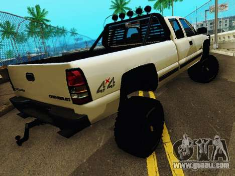 Chevrolet Silverado 2500HD 2001 for GTA San Andreas left view