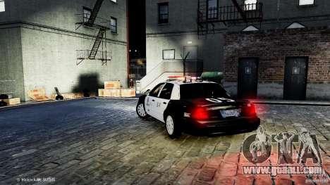 Ford Crown Victoria CVPI-K9 V6.9A-LAPD-ELS for GTA 4 back left view