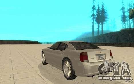 FIB Buffalo in GTA 4 for GTA San Andreas back left view