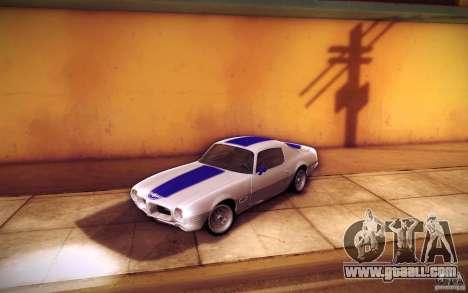 Pontiac Firebird 1970 for GTA San Andreas interior
