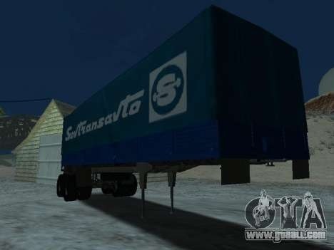 Trailer for Kamaz 5410 for GTA San Andreas back view