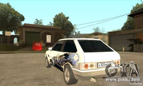 VAZ 2108 Tuned for GTA San Andreas back left view