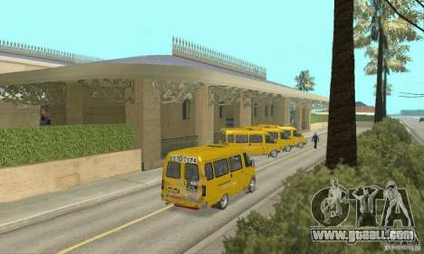 Gaz 2705 Minibus for GTA San Andreas left view