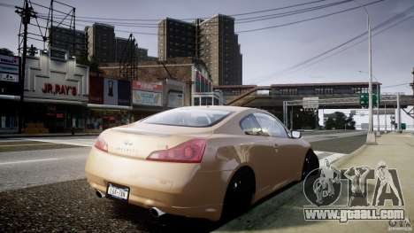 Infiniti G37 Coupe Sport for GTA 4 left view